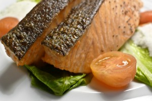 image of salmon and tomato