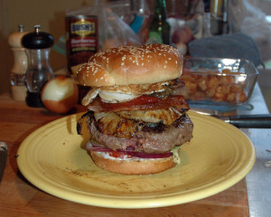 image of HUGE burger
